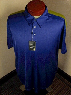 #021144. 2XL TALL. MARINE Retail $  70.00 Short Sleeve Stay Dry by CALLAWAY GOLF. TC POLO W VENTILATION Whs:  2,