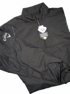 #264774. 2XL TALL. BLACK Retail $  95.00 Outerwear by CALLAWAY GOLF. 1/4 ZIP WINDSHIRT Whs A:  1 FW:  1