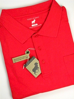 #023685. XL TALL. RED Retail $  54.00 Short Sleeve Pocket by HORNS LEGEND. POCKET FINE PIQUE FW:  1,