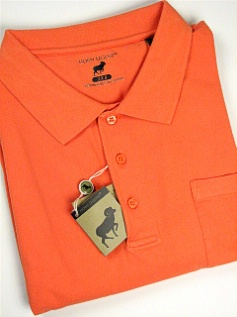 #137784. 6XL TALL. TANGERIN Retail $  54.00 Short Sleeve Pocket by HORNS LEGEND. POCKET FINE PIQUE FW:  1,