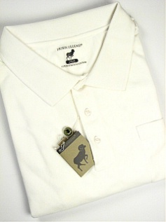 #004312. 4XL BIG. WHITE Retail $  54.00 Short Sleeve Pocket by HORNS LEGEND. POCKET FINE PIQUE FW:  1,