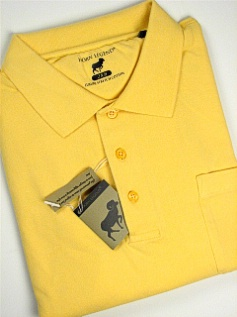 #190697. 4XL BIG. YELLOW Retail $  54.00 Short Sleeve Pocket by HORNS LEGEND. POCKET FINE PIQUE FW:  1,
