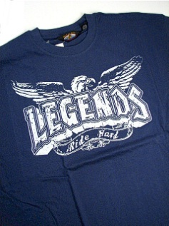 #079059. 3XL BIG. BLUE Retail $  35.00 Short Slv Graphic Tee by HEADLOCKS. LEGENDS Whs:  1,FW:  1,