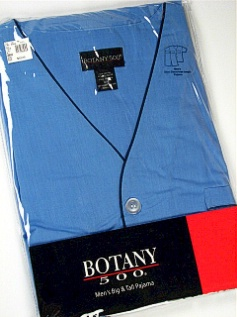#358659. 6XL BIG. BLUE Retail $  32.00 Pajamas by BOTANY 500. SHORT SLEEVE KNEE PJ Whs A: 17