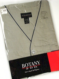 #017073. 6XL BIG. CHARCOAL Retail $  32.00 Pajamas by BOTANY 500. SHORT SLEEVE KNEE PJ Whs A:  2