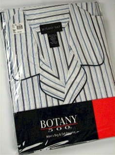 #328263. 3XL TALL. WHITE Retail $  33.00 Pajamas by BOTANY 500. LONG SLV PANT STRIPE FW:  1