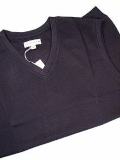 #031936. XL TALL. NAVY Retail $  79.50 Sweaters by CUTTER BUCK. JOURNEY SUPIMA VEST Whs A:  2