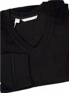 #122861. 4XL TALL. BLACK Retail $  95.00 Sweaters by CUTTER BUCK. JRNY FLATBACK V-NECK Whs A:  2
