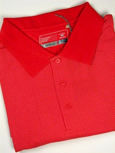 #080455. XL TALL. RED Retail $  68.00 Short Sleeve Stay Dry by CUTTER BUCK. DRYTEC BIRDSEYE POLO Whs A:  2