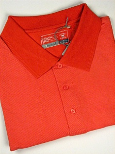 #119355. 4XL BIG. ORANGE Retail $  68.00 Short Sleeve Stay Dry by CUTTER BUCK. DRYTEC BIRDSEYE POLO Whs A:  3