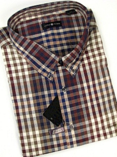 #316543. 4XL BIG. OLIVE Retail $  48.00 Long Sleeve Cotton by CTTON TRADERS. WRINKLE RESIST PLAID Whs A:  3