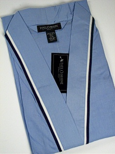 #356606. 2XL BIG. BLUE Retail $  45.00 Robes by STATE-O-MAINE. SOLID WOVEN KIMONO Whs A:  7 FW:  1