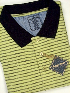 #005342. 4XL BIG. MINT Retail $  65.00 Short Sleeve by INDYGO SMITH. SPACE DYE STRIPE POLO Whs A:  4 FW:  1
