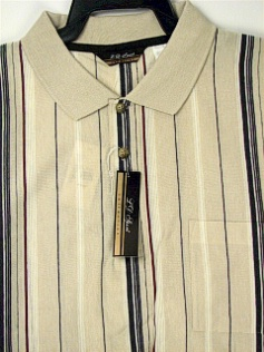 #303934. 2XL TALL. TAUPE Retail $  44.00 Short Sleeve Pocket by LD SPORT. KNIT COLLAR VERTICAL Whs:  2,