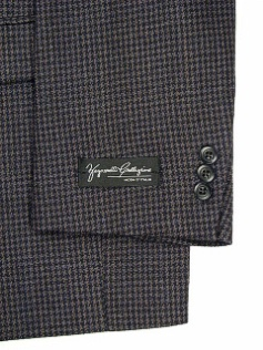 #193742. 56 P-LG. BLUE Retail $ 229.00 Sportcoats by ZEGNORELLI. MINI HOUNDSTOOTH SB <font face=arial size=2><BR>Special Order Item.</font> <B>Item stocked by Manufacturer.  Allow up to 3 weeks for delivery.</B>