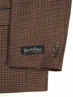 #110639. 52 P-RG. BROWN Retail $ 229.00 Sportcoats by ZEGNORELLI. MINI HOUNDSTOOTH SB <font face=arial size=2><BR>Special Order Item.</font> <B>Item stocked by Manufacturer.  Allow up to 3 weeks for delivery.</B>