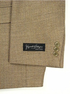 #058407. 52 P-RG. TAN Retail $ 229.00 Sportcoats by ZEGNORELLI. SOLID HERRINGBONE SB <font face=arial size=2><BR>Special Order Item.</font> <B>Item stocked by Manufacturer.  Allow up to 3 weeks for delivery.</B>