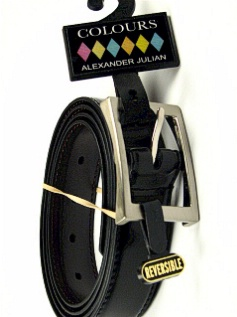 #350509. 58 . BLK/BRN Retail $  32.50 Belts by COLOURS. ANILINE FINISH 32MM Whs A:  2 FW:  1