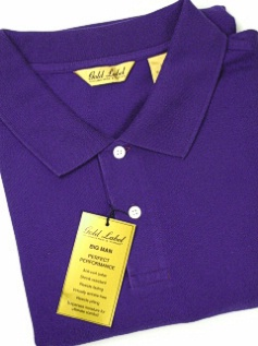 #219035. 4XL BIG. PURPLE Retail $  45.00 Short Sleeve by ROUNDTREE YORK. PIQUE SOLID Whs A:  1