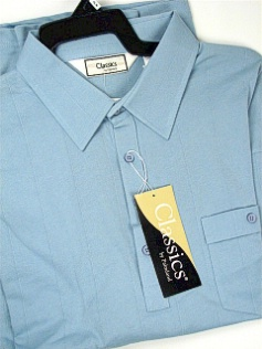 #336011. 6XL BIG. BLUE Retail $  48.00 Short Sleeve by LD SPORT. TAILOR COLLAR SOLID FW:  1,