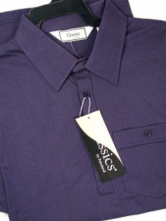 #134976. 6XL BIG. NAVY Retail $  48.00 Short Sleeve by LD SPORT. TAILOR COLLAR SOLID FW:  1,