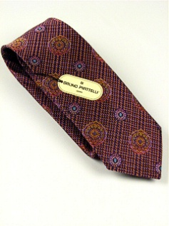 #110866.  . PLUM Retail $  45.00 Extra Long Ties by BRUNO PIATTELLI. XLONG JACQ FLORETS FW:  3,