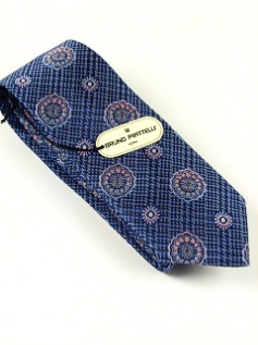 #136211.  . BLUE Retail $  45.00 Extra Long Ties by BRUNO PIATTELLI. XLONG JACQ FLORETS FW:  1