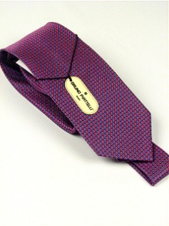 #286611.  . BURGUNDY Retail $  45.00 Extra Long Ties by BRUNO PIATTELLI. XLONG JACQ DOTS FW:  2