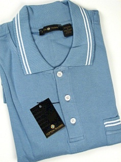 #007481. XL TALL. BLUE Retail $  45.00 Short Sleeve Pocket by CTTON TRADERS. INTERLOCK W/TIPPING Whs:  2,
