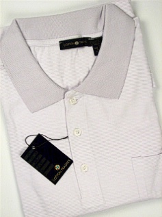 #048024. 3XL TALL. LILAC Retail $  45.00 Short Sleeve Pocket by CTTON TRADERS. FINE STRIPE JERSEY FW:  1
