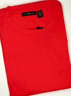 #063757. 6XL BIG. RED POCKET TEE CREW Short Sleeve Tee by CTTON TRADERS. Whs A:  3