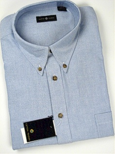 #138745. 2XL TALL. BLUE Retail $  55.00 Long Sleeve Cotton by CTTON TRADERS. LONG SLV SOLID OXFORD Whs A:  8
