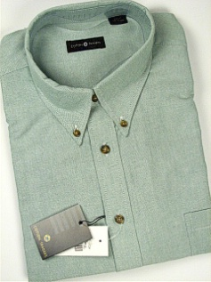 #138783. 4XL BIG. LAWN Retail $  55.00 Long Sleeve Cotton by CTTON TRADERS. LONG SLV SOLID OXFORD FW:  1,