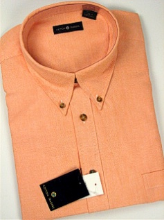 #018984. 4XL BIG. MELON Retail $  55.00 Long Sleeve Cotton by CTTON TRADERS. LONG SLV SOLID OXFORD FW:  1,
