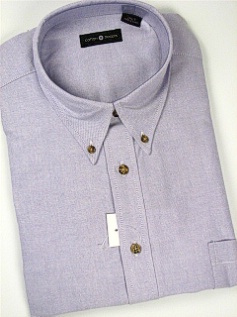 #177593. 2XL TALL. PLUM Retail $  55.00 Long Sleeve Cotton by CTTON TRADERS. LONG SLV SOLID OXFORD Whs A: 10