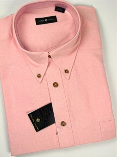 #059673. 4XL BIG. PINK Retail $  46.00 Short Sleeve by CTTON TRADERS. SOLID OXFORD B.D. Whs A:  1