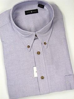 #335658. 4XL BIG. PLUM Retail $  46.00 Short Sleeve by CTTON TRADERS. SOLID OXFORD B.D. Whs A:  1