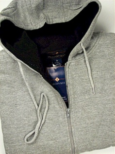 #202389. 5XL BIG. GREY Retail $  50.00 Athletic Crew by FALCON BAY. THERMAL LINED HOODY Whs:  3,