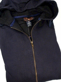 #226365. 5XL BIG. NAVY Retail $  50.00 Athletic Crew by FALCON BAY. THERMAL LINED HOODY Whs:  1,