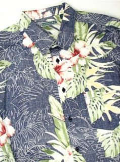 #134440. 3XL TALL. NAVY Retail $  70.00 Short Sleeve by CUBAVERA. FLORAL PRINT Whs A:  1