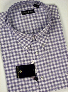 #303329. 2XL TALL. PLUM Retail $  48.00 Short Sleeve by CTTON TRADERS. CHECK EASY CARE FW:  1