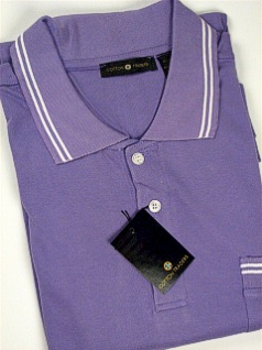 #035314. XL TALL. LILAC Retail $  45.00 Short Sleeve Pocket by CTTON TRADERS. INTERLOCK W/TIPPING Whs:  5,