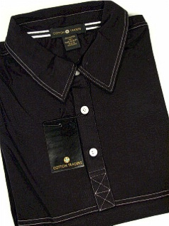 #215572. 2XL TALL. BLACK Retail $  45.00 Short Sleeve by CTTON TRADERS. DOUBLE BOX STITCH Whs A:  1 FW:  1
