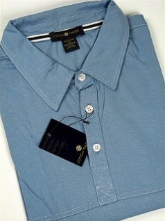 #274159. 4XL BIG. BLUE Retail $  45.00 Short Sleeve by CTTON TRADERS. DOUBLE BOX STITCH Whs A:  2