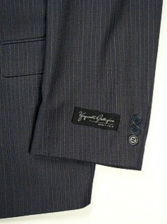#320508. 54 P-LG. GREY Retail $ 359.00 Clothing/Suits by ZEGNORELLI. PORTLY SUIT PINSTRIPE Whs A:  1