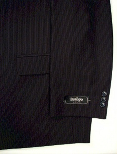 #060305. 56 P-RG. NAVY Retail $ 360.00 Clothing/Suits by ZEGNORELLI. PORTLY SUIT PLAIN PNT FW:  1,