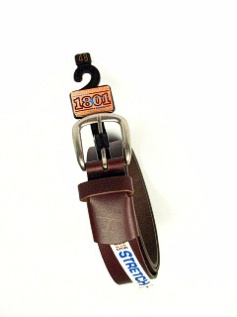 #164953. 52 . BROWN Retail $  35.00 Belts by BOSTON LEATHER. 1 1/2IN W ELASTIC FW:  1,