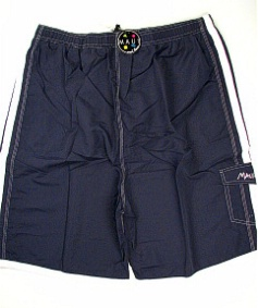 #088901. 6XL BIG. NAVY/WHT Retail $  48.00 Swim Wear by MAUI AND SON. SOLID STRIPES TRUNK Whs A:  3