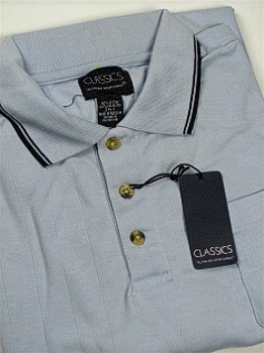 #107824. 3XL TALL. BLUE Retail $  39.00 Short Sleeve by FALCON BAY. DROP NEEDLE SOLID Whs A:  5 FW:  1