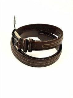 #095651. 46 . BROWN Retail $  34.00 Belts by OUTFITTER. 35MM NUBUC W STITCH Whs:  4,FW:  1,
